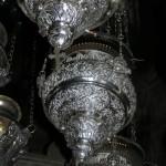 Olejové lampy v Anastazis (Sv. hrob, Jeruzalem)