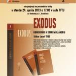 Prezentácia knihy Exodus, 24.4.2013